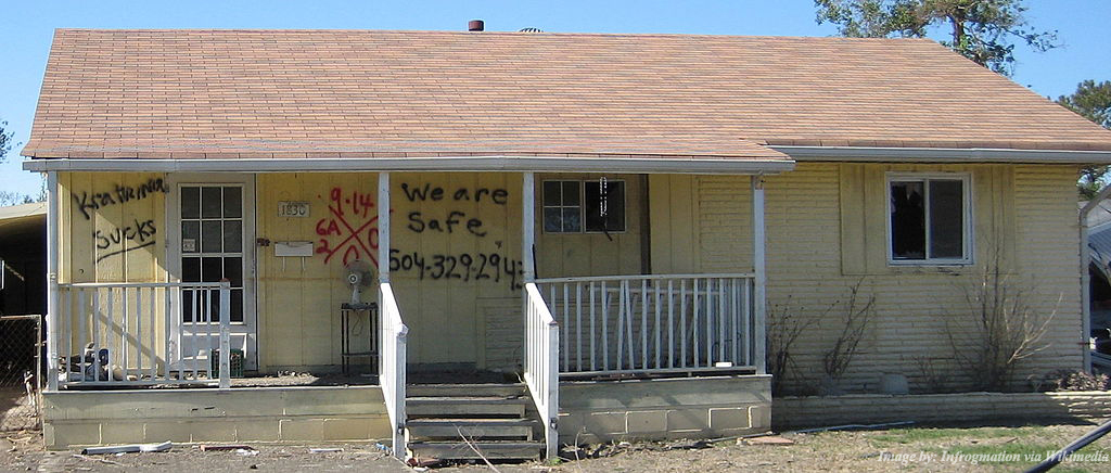 vandalized home