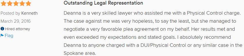 Spokane DUI Lawyer Review